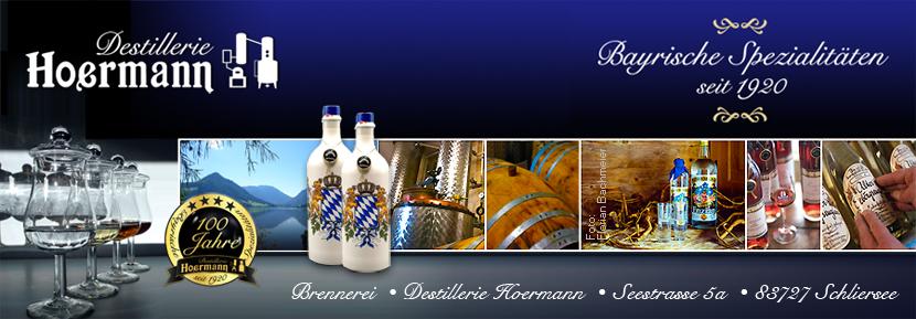 Brennerei-Destillerie Hoermann · Feine Destillate aus Schliersee, D- 83727 Schliersee